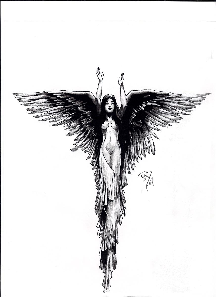 Angel Tattoo by jeremiah222 on DeviantArt