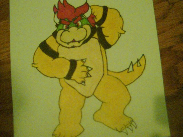 Bowser drawn-full body- by BowsersMine