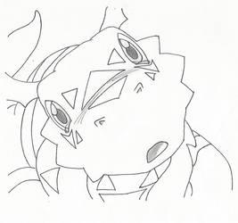 Sad Guilmon by Megane-sempai