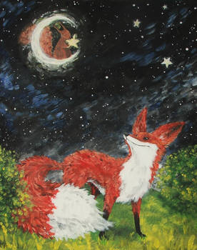 The fox and the star munching squirrel
