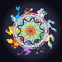 Eevee Evolution Mandala