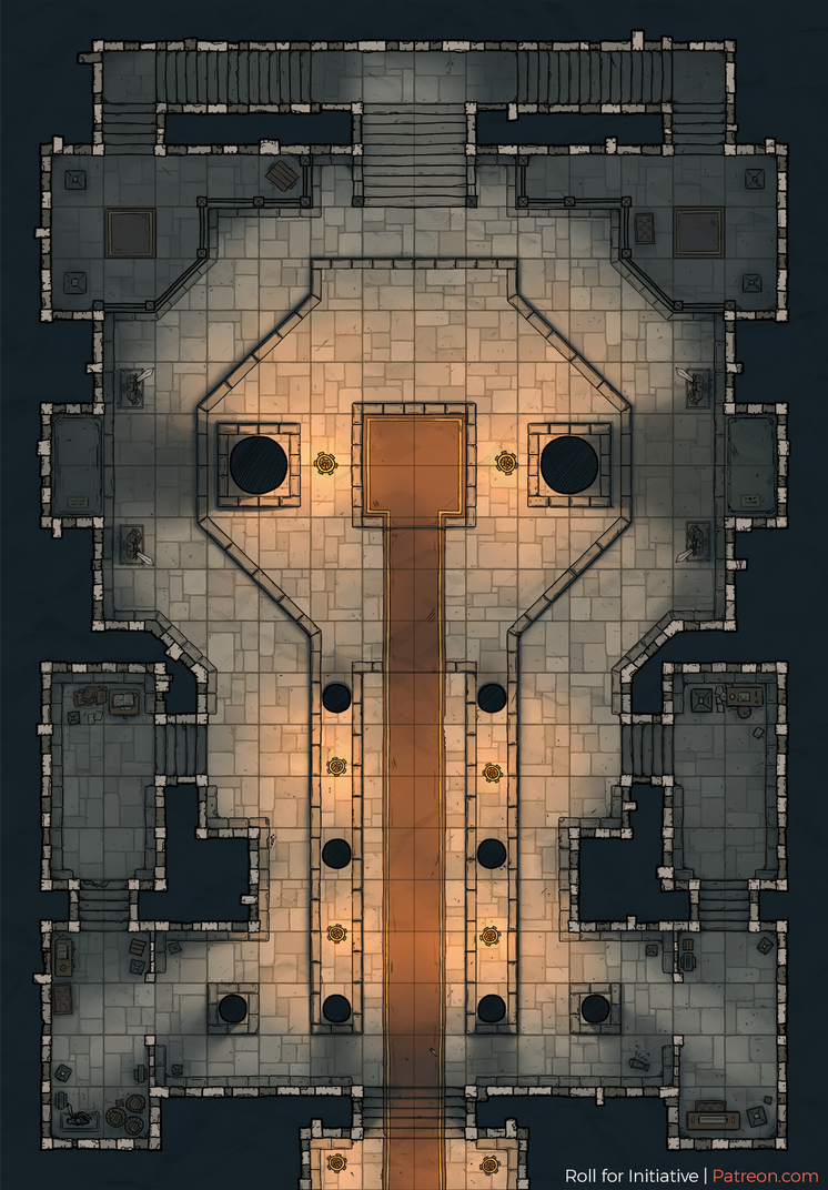 Temple Battlemap by Roll-for-Initiative on DeviantArt