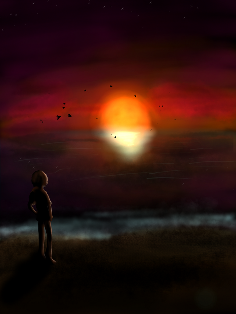 Sunset by Domique-Noir