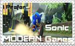 Modern Sonic games stamp by NsiderBurningBlaze
