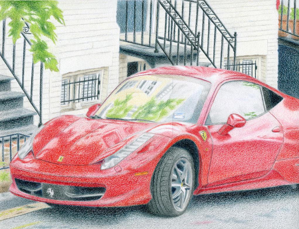 485 Italia Ferrari Portrait by taisenkatakura321