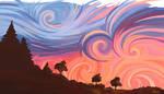 Breathtaking Sunset by Xhario