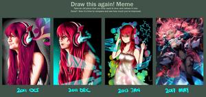 Draw this again! 2017 - Neo Magenta by yeinART