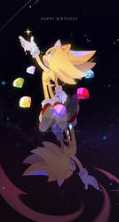happy birthday sonic by D1NGA