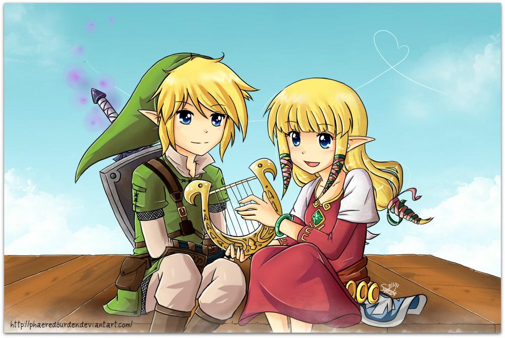 Link And Zelda Relationship Link and Zelda by Sand...