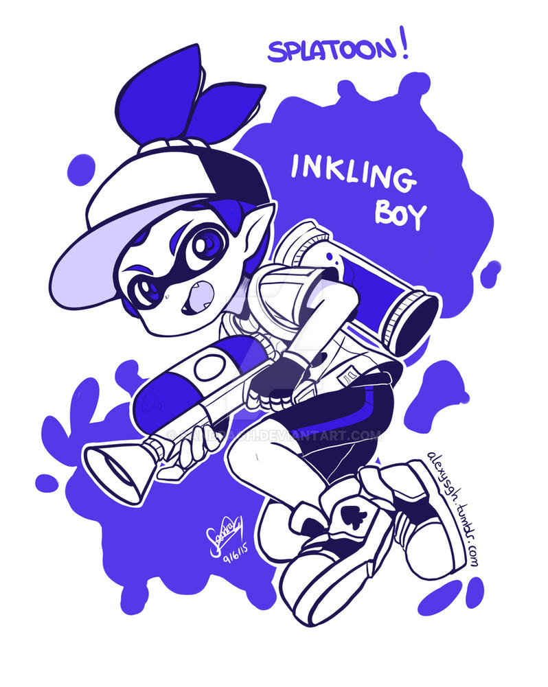 Splatoon Inkling Boy No Color By Sandragh On Deviantart