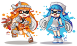 Sushi Chef and Ika Musume Inklings