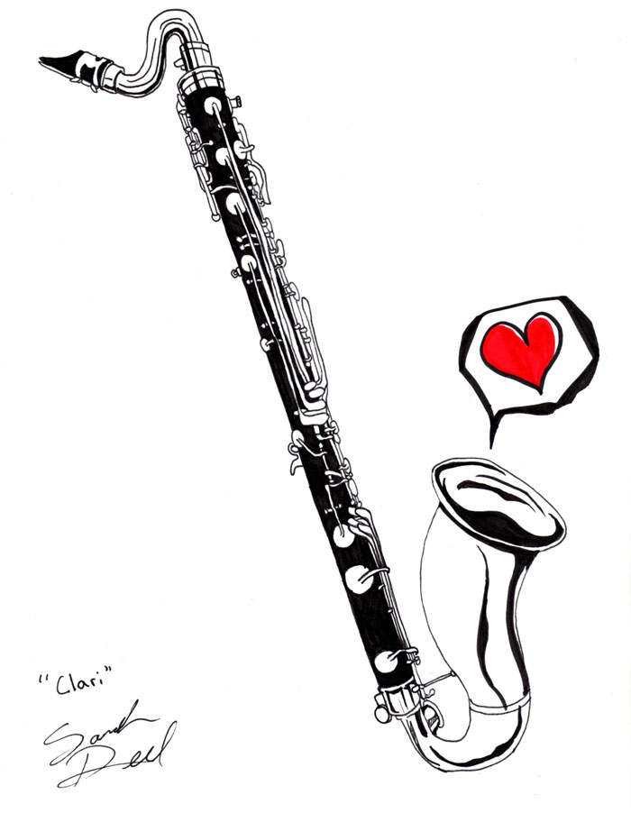The gallery for --> Cute Clarinet Drawing