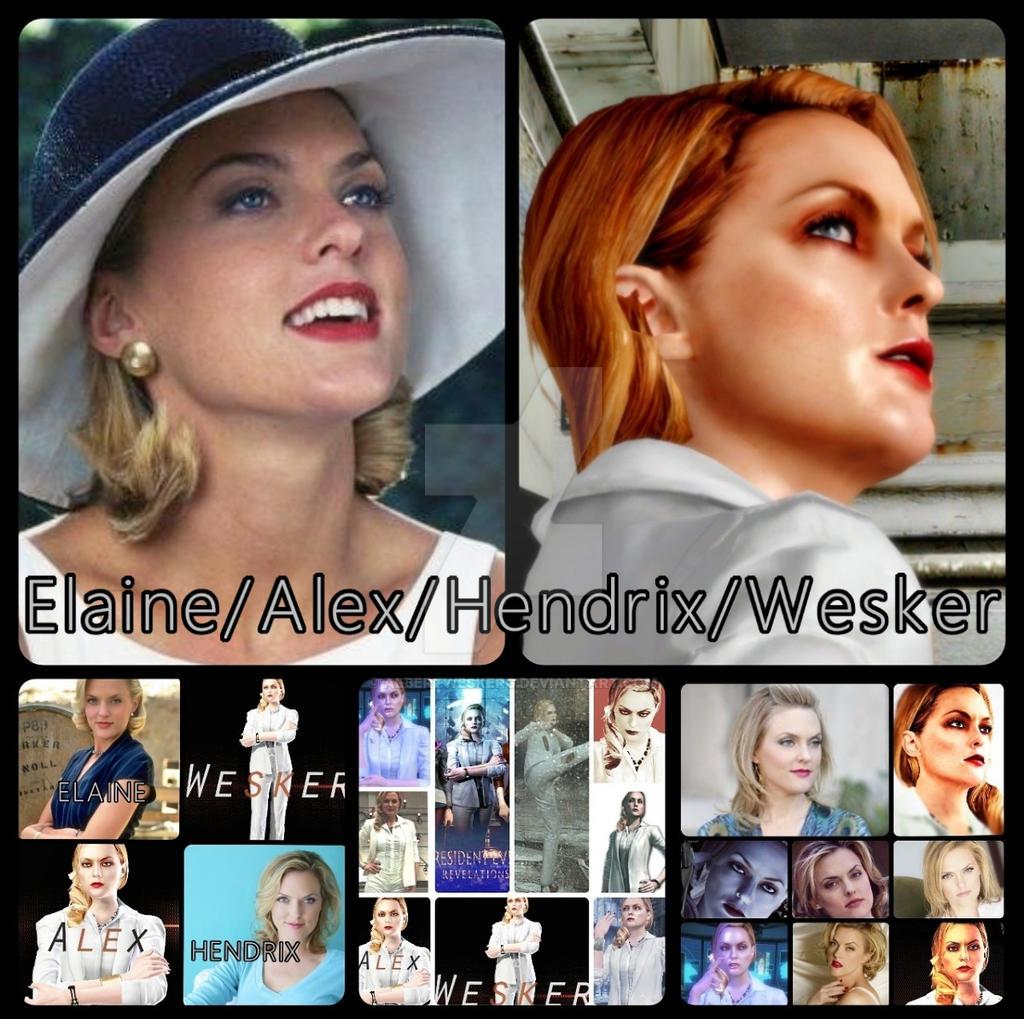 Elaine/Alex/Hendrix/Wesker tribute by AlbertWeskerG on ... Elaine Hendrix Alex Wesker