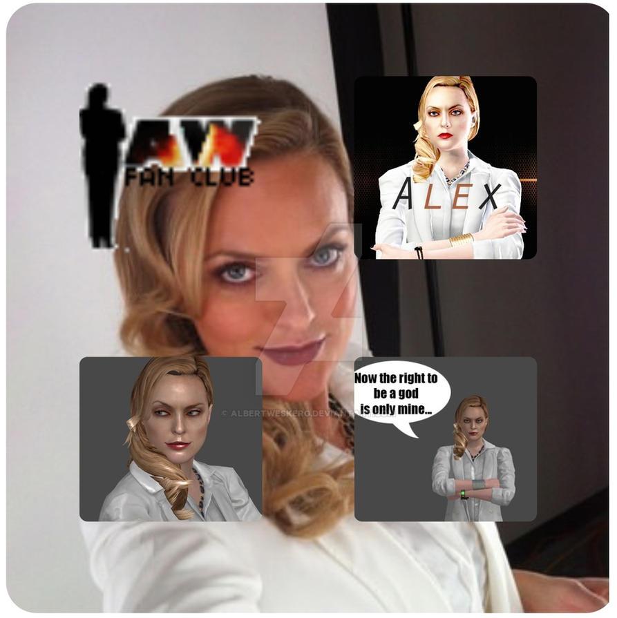 Alex Wesker Wallpaper, Elaine Hendrix by AlbertWeskerG on ... Elaine Hendrix Alex Wesker