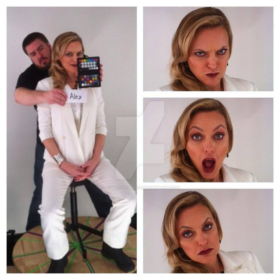 Alex Wesker / Elaine Hendrix , funny face's by ... Elaine Hendrix Alex Wesker