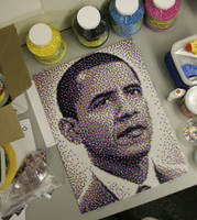 Barack Obama Bead Portrait by legomov