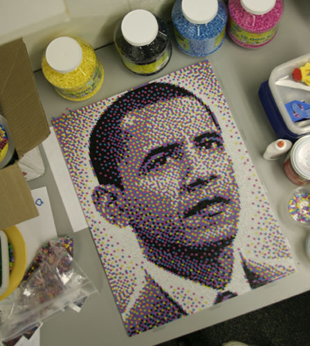 Barack Obama Bead Portrait by legomov on DeviantArt