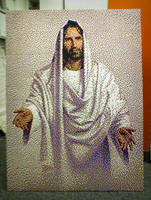 Jesus Bead Portrait by legomov