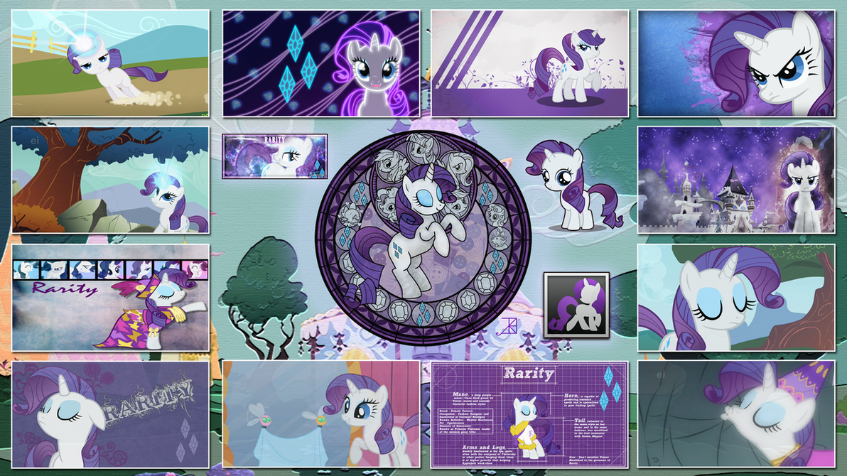 Rarity Stained Wallpapers by GT4tube