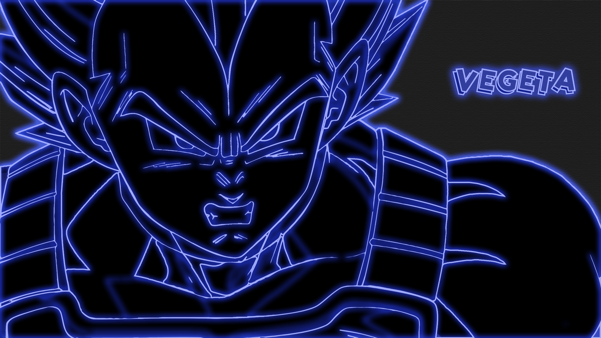Vegeta Neon Wallpaper by GT4tube