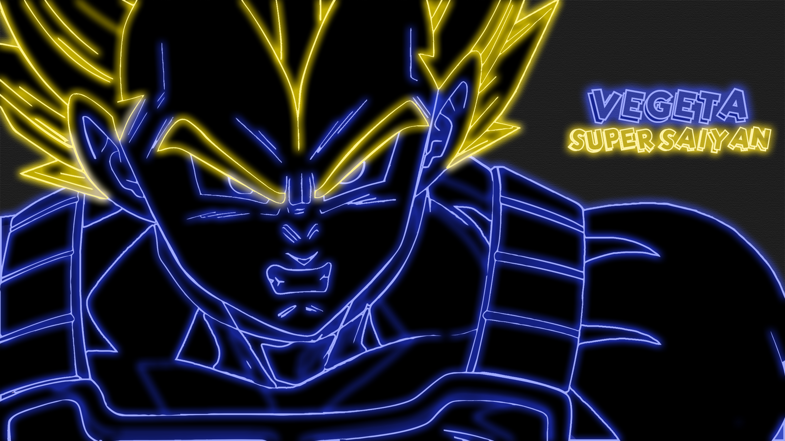 Vegeta Super Saiyan Neon Wallpaper By GT4tube