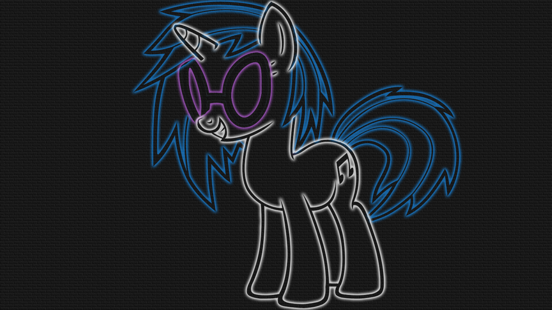 Vinyl Scratch - LineArt Neon-Glow Wallpaper by GT4tube on ...