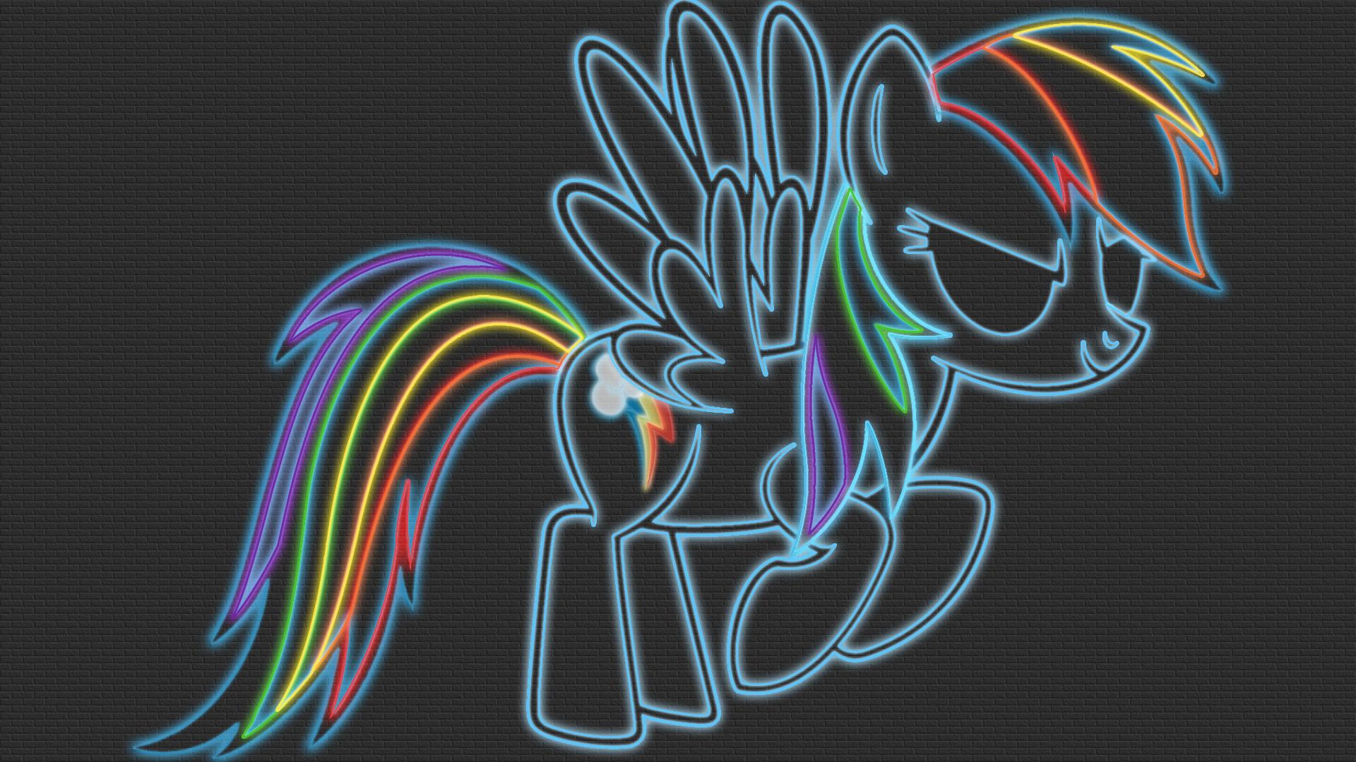 Rainbow Dash Neon-Glow Wallpaper by GT4tube on DeviantArt