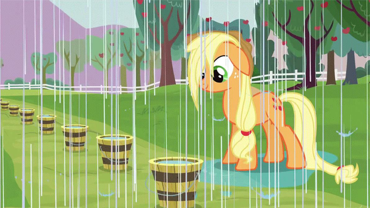 AppleJack - Rain Animation Gif by GT4tube