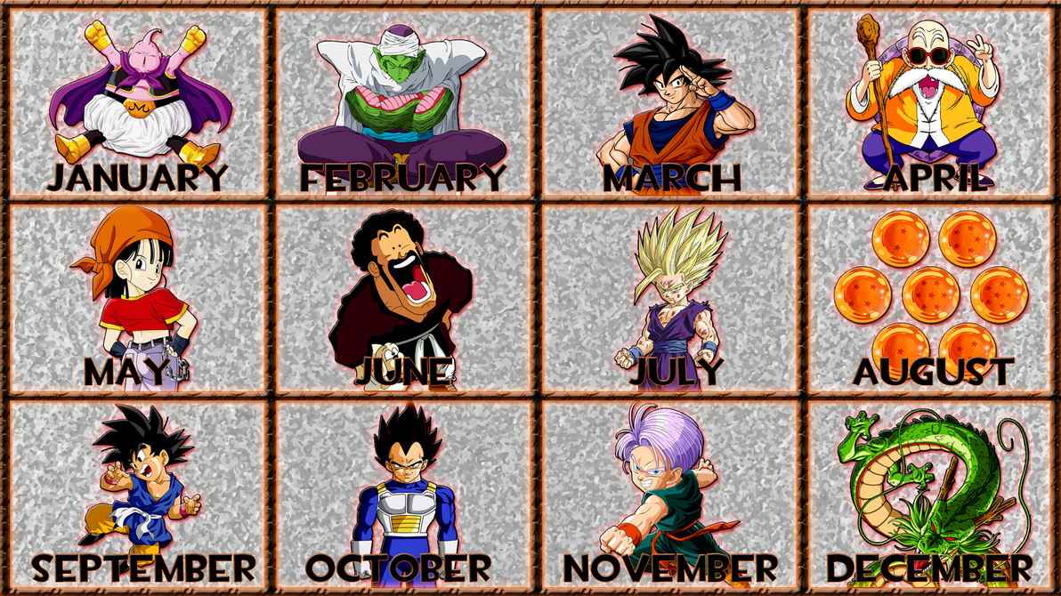 Anime Characters Born On October 9 : Dragon ball months by gt tube on deviantart