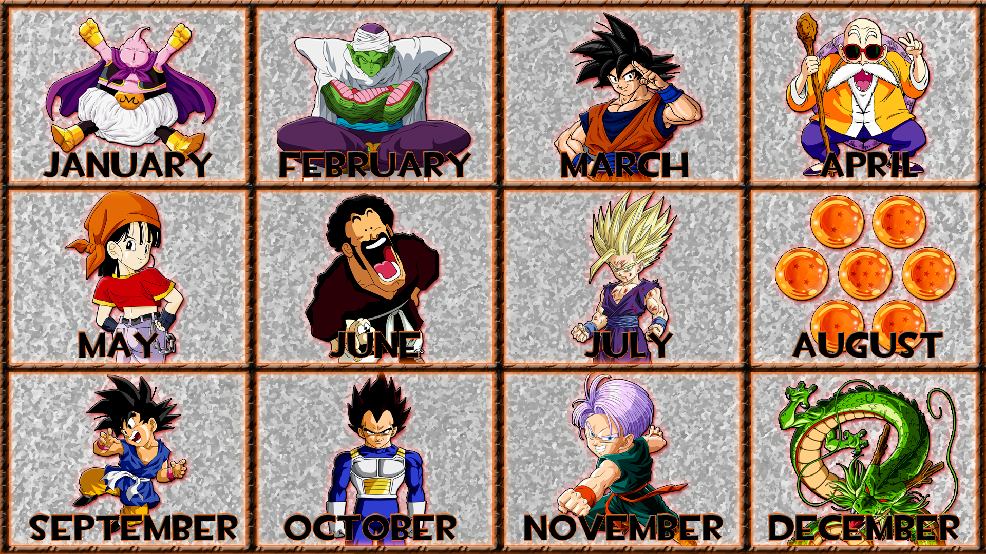 Dragon Ball - 12 Months by GT4tube on DeviantArt