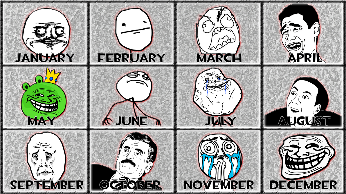 troll meme 12 months by gt4tube on deviantart