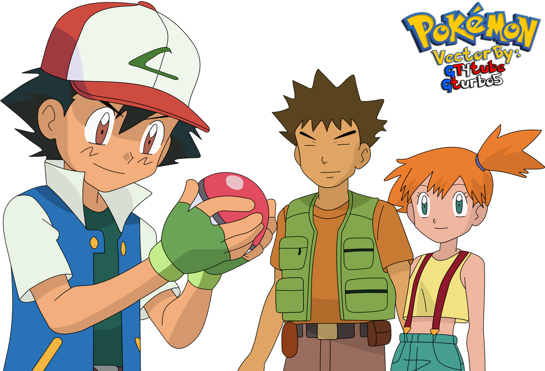 Ash Ketchum Pokeball - Brock and Misty Vector by GT4tube