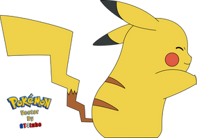 Pokemon #025 Pikachu Hug - Vector v2 by GT4tube