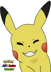 Pikachu #025 - Face Smile - Vector