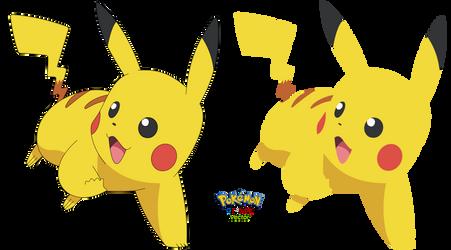 Pikachu #025 - Alola Battle Royal - Vector