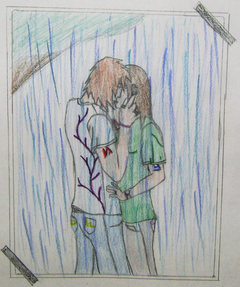 SBC: Kissing in the Rain by dragonmage88 on DeviantArt