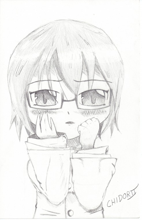 Chibi Girl With Glasses By Chidorii Chan On Deviantart