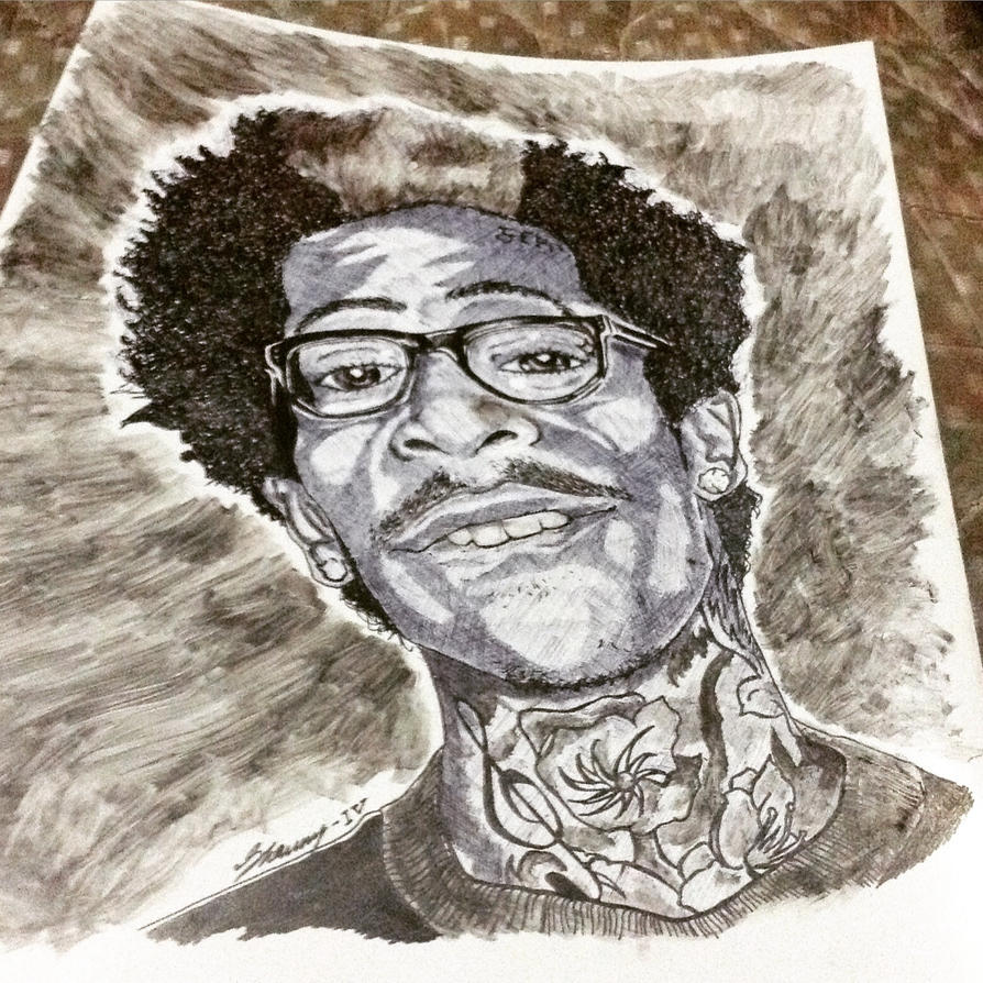 Pen Art: Wiz Khalifa by Exodus-IV