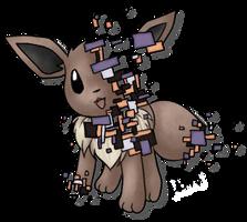 glitch!Eevee by Domiric