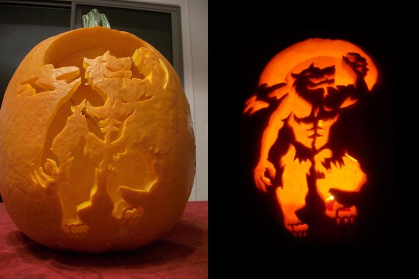 Wolf Face Pumpkin Carving Ideas