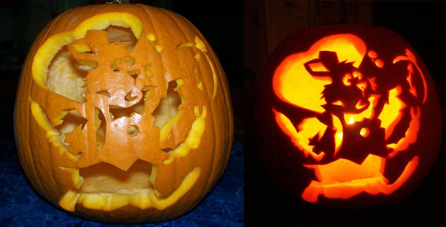 White rabbit pumpkin by jadewik on deviantart