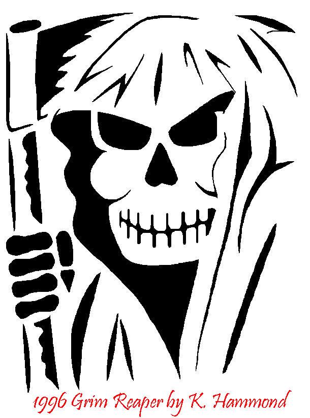 Grim Reaper Pumpkin Carving Patterns Grim Reaper Pumpkin Pattern by