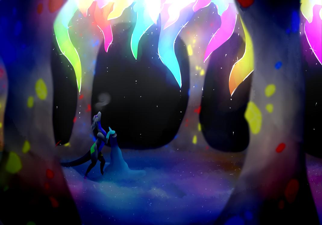Rainbow Cave by BlackDragonArtist