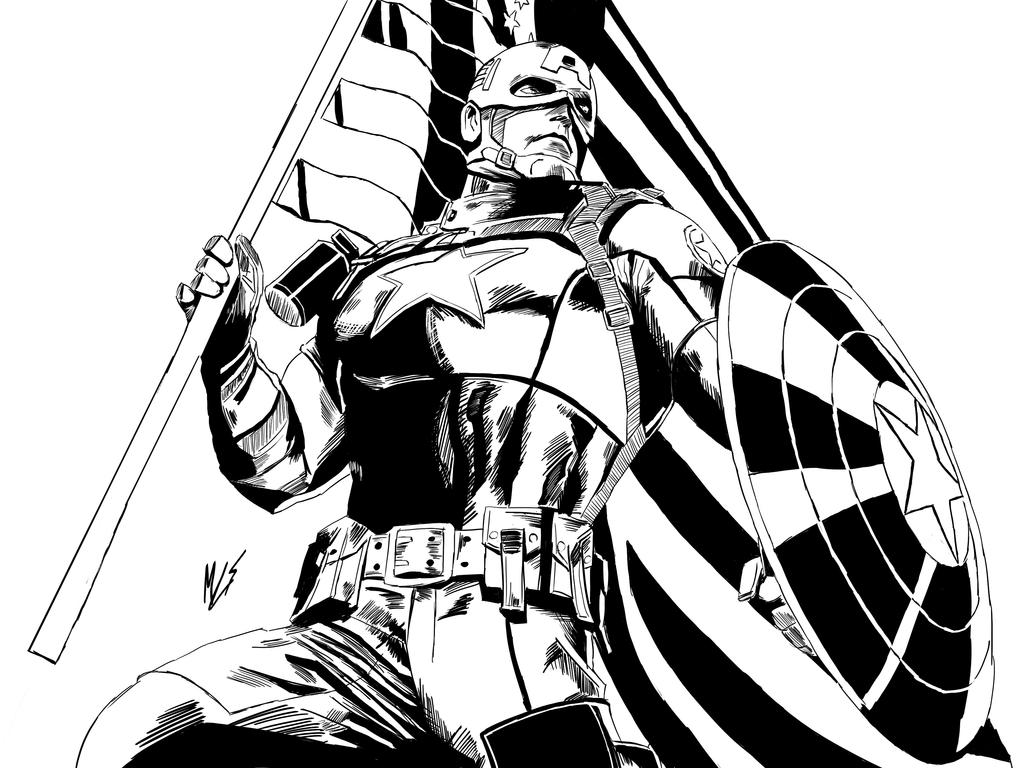 Captain America Classic Cover by maiconlourenco