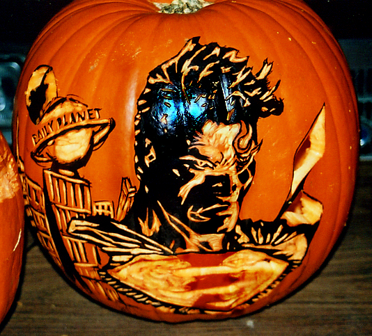 Superman Pumpkin By Rjclrutter On Deviantart