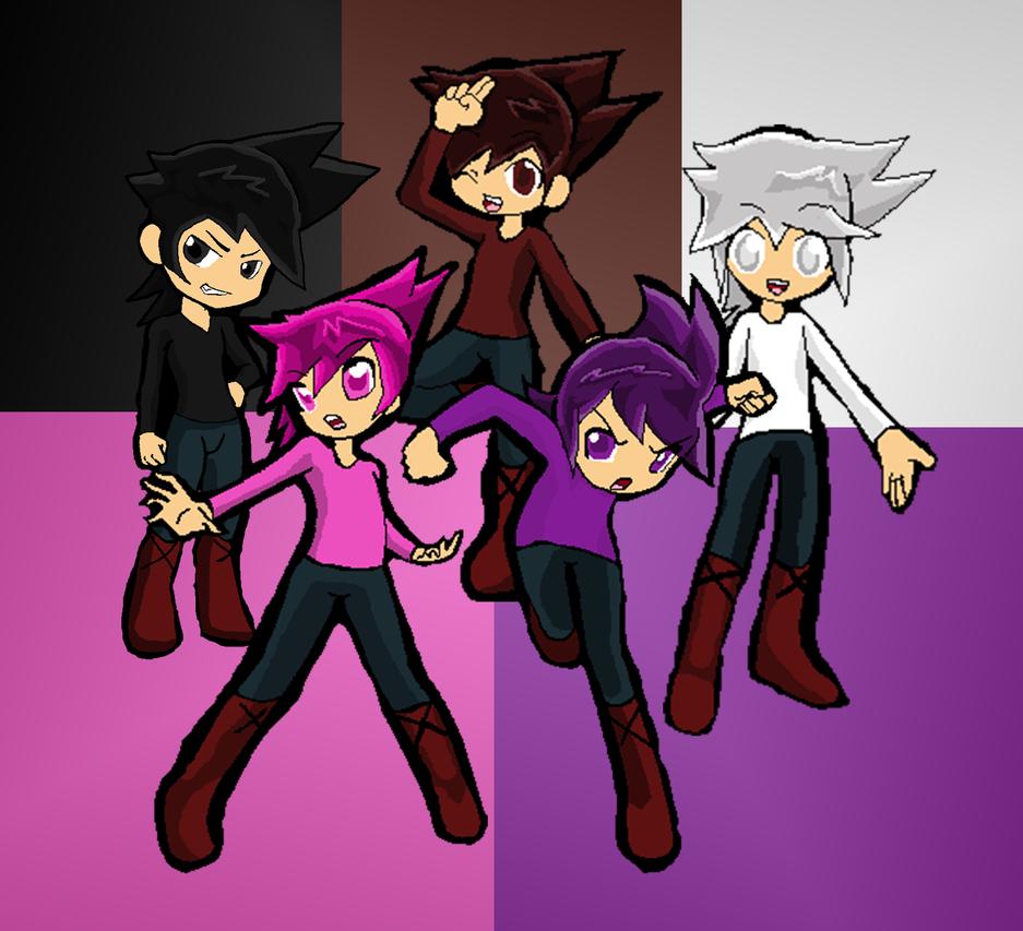 nishimura rika 13-14 Ikazuchi Colors: Pink, Purple, White, Brown, Black by RyThunder13-Ikazuchi
