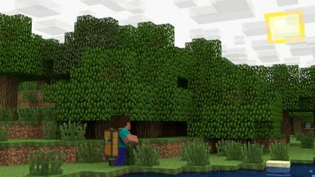 Minecraft Scene: On The Hunt by Ryakr