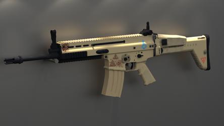 Fur E.O.D.: FN Scar Based Rifle View 1 by Ryakr