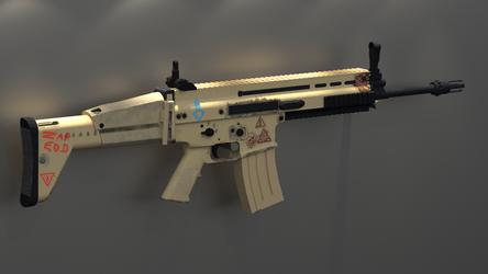 Fur E.O.D.: FN Scar Based Rifle View 2 by Ryakr