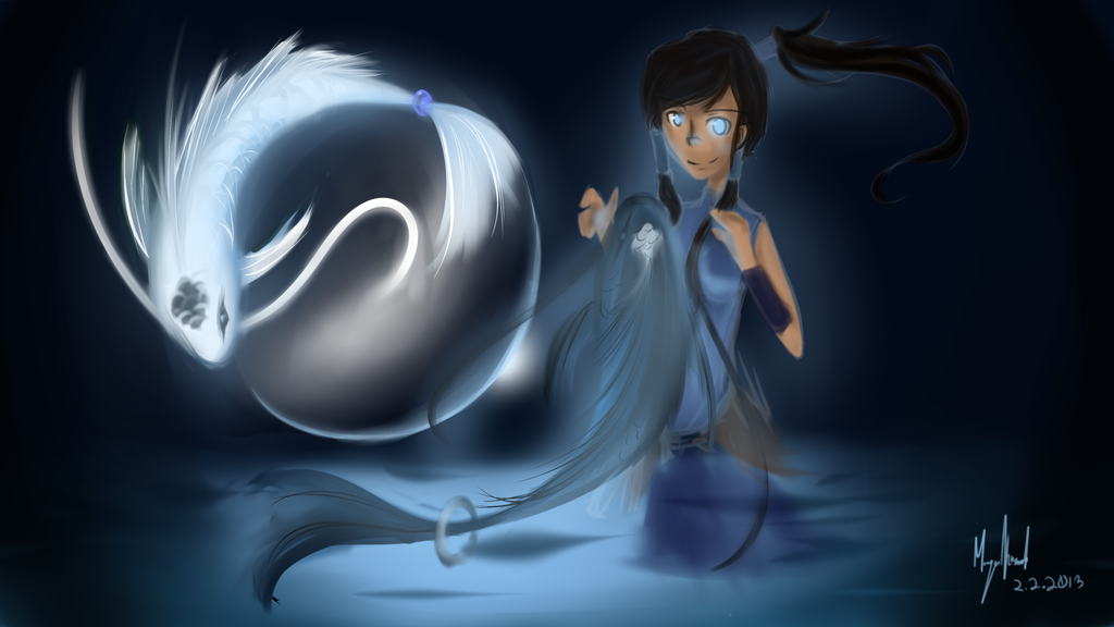 AT:Korra and The Spirits by Hitoraki